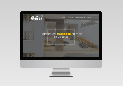 Afonso Correa Construções - Inovalize   Desenvolvimento de sites