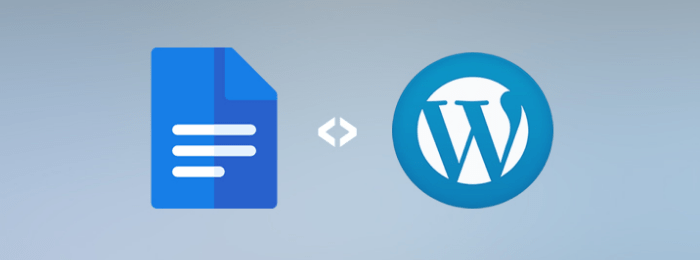 WordPress suporta edição colaborativa através do Google Docs