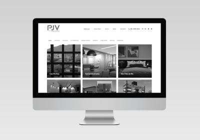 PVJ Arquitetura - Inovalize   Desenvolvimento de site