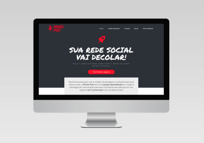 Rocket Post Gestão de Redes Sociais   Desenvolvimento do site - Inovalize