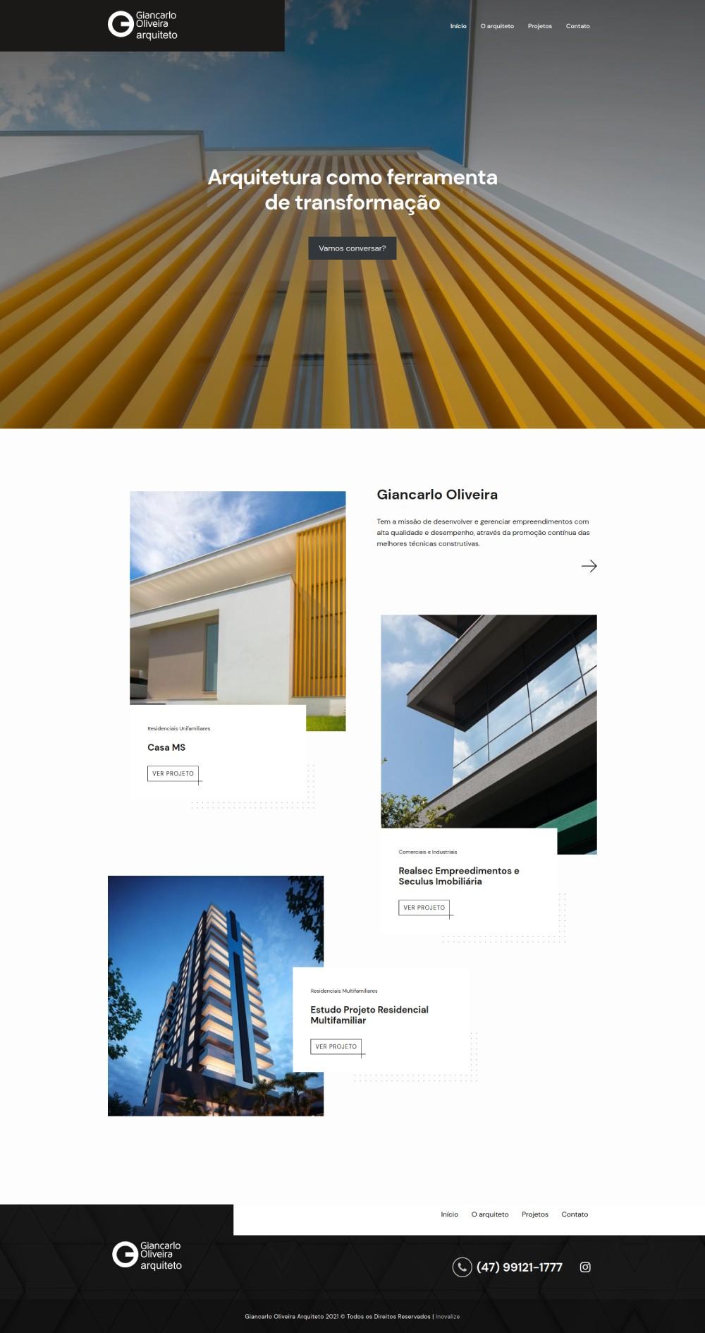 Inovalize - Giancarlo Oliveira Arquiteto