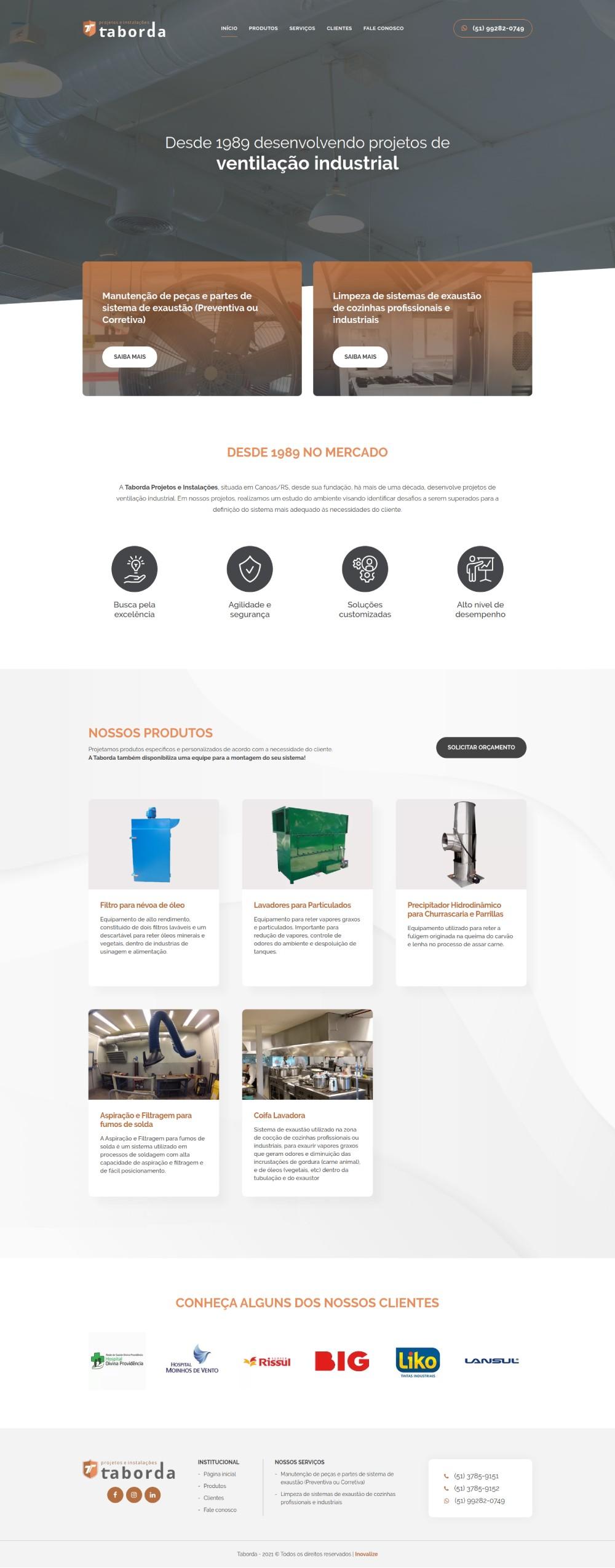 Inovalize - Taborda Projetos e Instalações